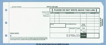 2 part credit card sales slips for manual imprinter long 100 rh merchantrolls com Old Oil Company Imprinter Plates Tyden Ball Seal Manual Imprinter